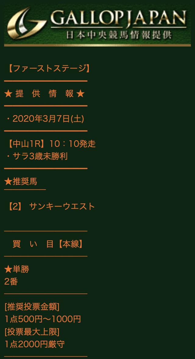 ギャロップジャパンの有料予想0307_1