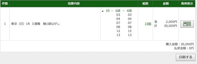 金の鞍の無料予想2020年5月24日東京1レースのPAT画像
