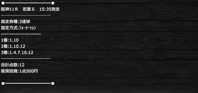 高配当XXXの有料予想2020年3月21日2レース目の買い目画像