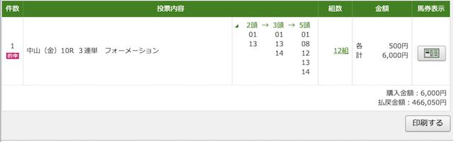 3月20日中山10RのPAT画像