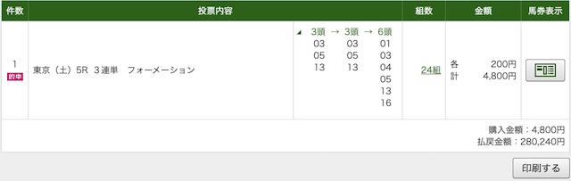 ラップ競馬 メイクデビュー東京PAT画像