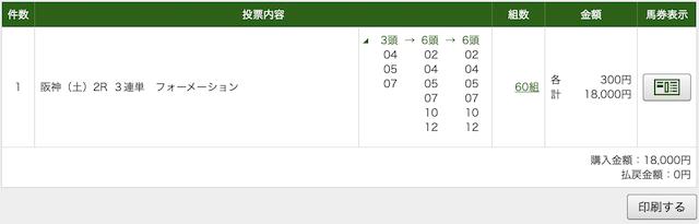 うまラボ 4月4日阪神2R PAT購入画像