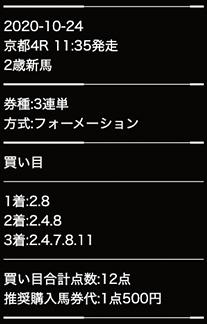 キャリーオーバー 10月24日画像 京都4R