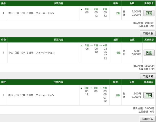 エコ競馬 12月27日中山10R PAT画像