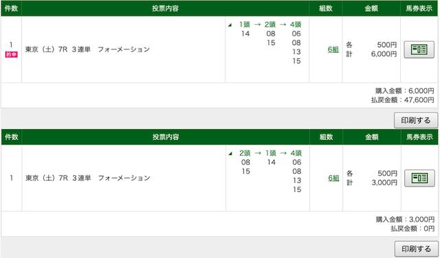 エコ競馬:東京7レースPAT画像
