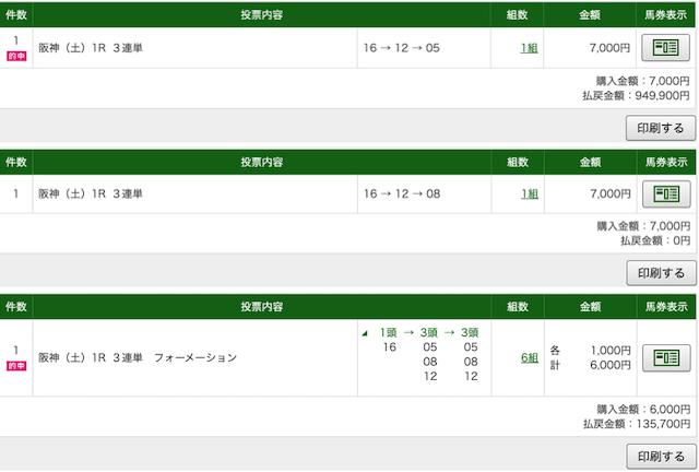 競馬アナリティクスRED:阪神1レースPAT画像