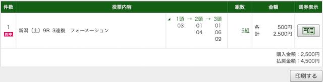 勝ち馬の定石:新潟9レースPAT画像