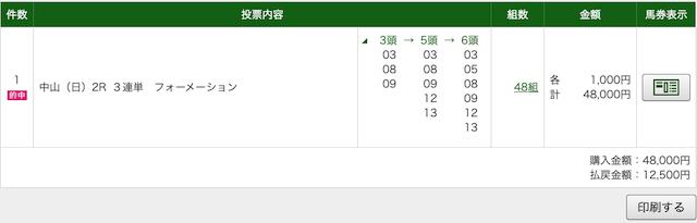 中山2Rの無料予想PAT