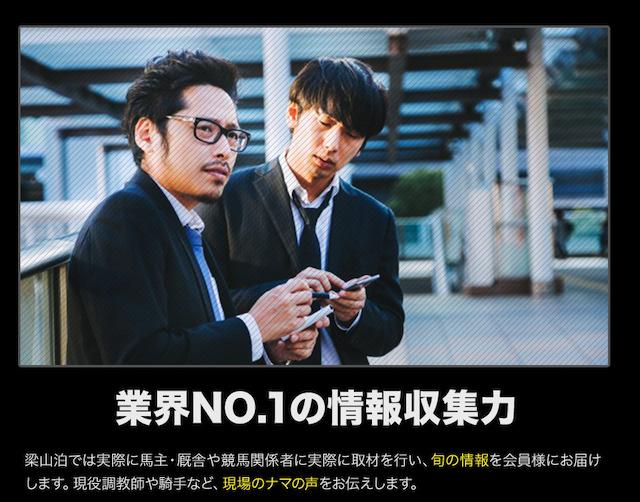 梁山泊 特徴 業界No.1の情報収集力