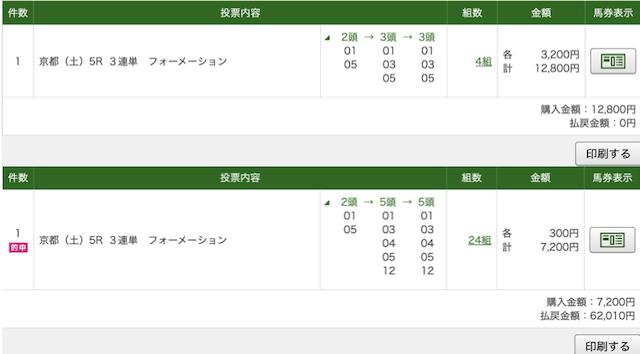 的中マーケット 有料予想 京都5R